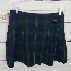 Lands End | Buckle School Girl Plaid Mini Skirt 8